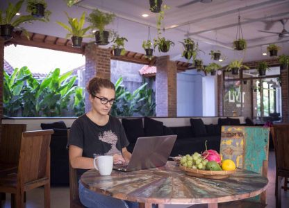 Coworking from the Livit caffe